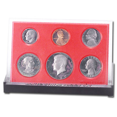 Image for 1980-S U.S. Mint Clad Proof Set (6 coins), Choice Proof, PR63 from Littleton Coin Company