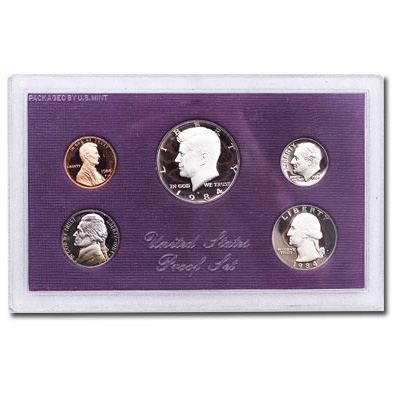 Image for 1984-S U.S. Mint Clad Proof Set (5 coins), Choice Proof, PR63 from Littleton Coin Company