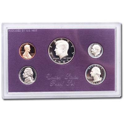 Image for 1987-S U.S. Mint Clad Proof Set (5 coins), Choice Proof, PR63 from Littleton Coin Company