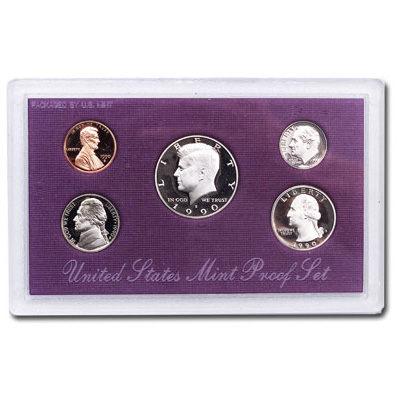 Image for 1990-S U.S. Mint Clad Proof Set (5 coins), Choice Proof, PR63 from Littleton Coin Company