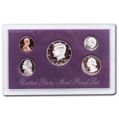 Image for 1992-S U.S. Mint Clad Proof Set (5 coins), Choice Proof, PR63 from Littleton Coin Company