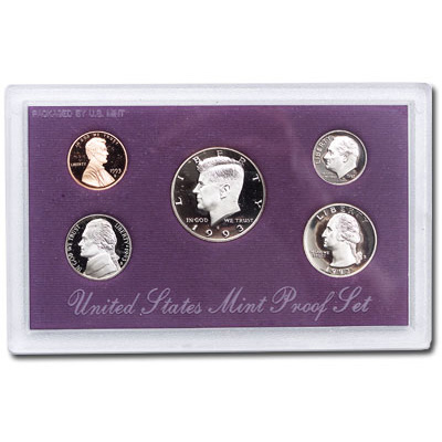 Image for 1993-S U.S. Mint Clad Proof Set (5 coins), Choice Proof, PR63 from Littleton Coin Company