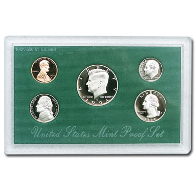 Image for 1994-S U.S. Mint Clad Proof Set (5 coins), Choice Proof, PR63 from Littleton Coin Company