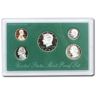 Image for 1995-S U.S. Mint Clad Proof Set (5 coins), Choice Proof, PR63 from Littleton Coin Company