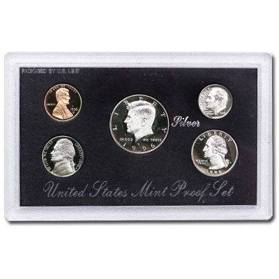 Image for 1996-S U.S. Mint Silver Proof Set (5 coins), Choice Proof, PR63 from Littleton Coin Company