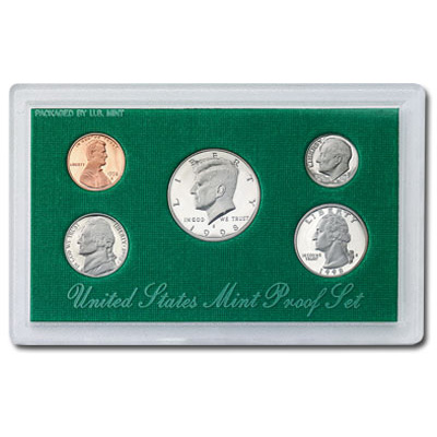 Image for 1998-S U.S. Mint Clad Proof Set (5 coins), Choice Proof, PR63 from Littleton Coin Company