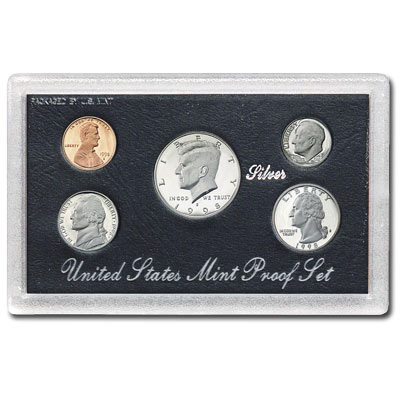Image for 1998-S U.S. Mint Silver Proof Set (5 coins), Choice Proof, PR63 from Littleton Coin Company