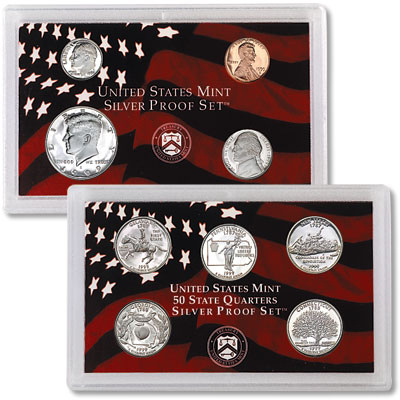 1999-S U S  Mint Silver Proof Set (9 coins), Choice Proof, PR63
