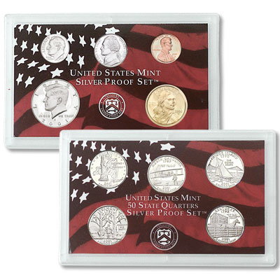 Image for 2001-S U.S. Mint Silver Proof Set (10 coins), Choice Proof, PR63 from Littleton Coin Company
