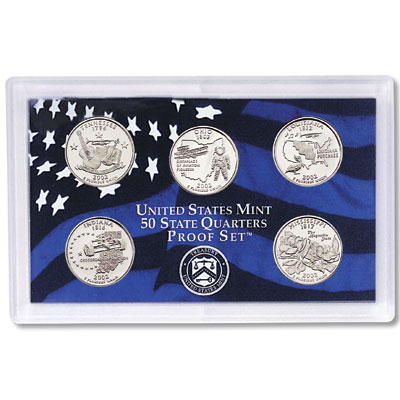 Image for 2002-S U.S. Mint Statehood Quarters Clad Proof Set (5 coins), Choice Proof, PR63 from Littleton Coin Company