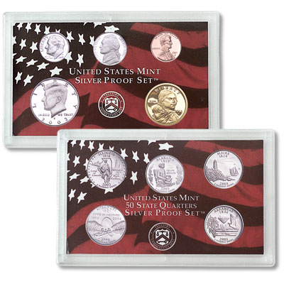 Image for 2003-S U.S. Mint Silver Proof Set (10 Coins), Choice Proof, PR-63 from Littleton Coin Company