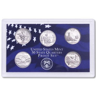 Image for 2003-S U.S. Mint Statehood Quarters Clad Proof Set (5 coins), Choice Proof, PR63 from Littleton Coin Company