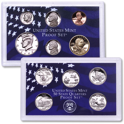 Image for 2004-S U.S. Mint Clad Proof Set (11 coins), Choice Proof, PR63 from Littleton Coin Company
