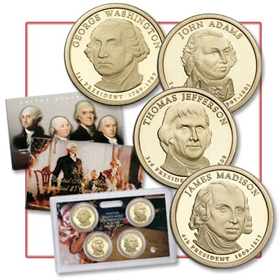 Image for 2007-S U.S. Mint Presidential Dollar Proof Set (4 coins) from Littleton Coin Company