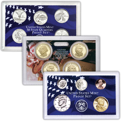 Image for 2007-S U.S. Mint Clad Proof Set (14 coins), Choice Proof, PR63 from Littleton Coin Company