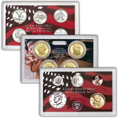 Image for 2007-S U.S. Mint Silver Proof Set (14 coins), Choice Proof, PR63 from Littleton Coin Company