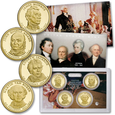 Image for 2008-S U.S. Mint Presidential Dollar Proof Set (4 coins) from Littleton Coin Company
