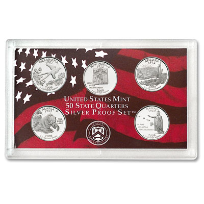 Image for 2008-S U.S. Mint Statehood Quarters Silver Proof Set (5 coins), Choice Proof, PR63 from Littleton Coin Company