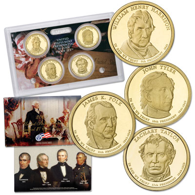 Image for 2009-S U.S. Mint Presidential Dollar Proof Set (4 coins) from Littleton Coin Company