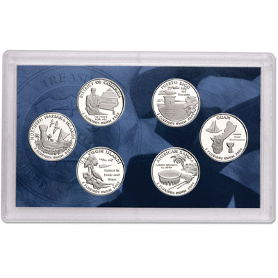 Image for 2009-S U.S. Mint D.C. and U.S. Territories Quarters Clad Proof Set (6 coins), Choice Proof, PR63 from Littleton Coin Company