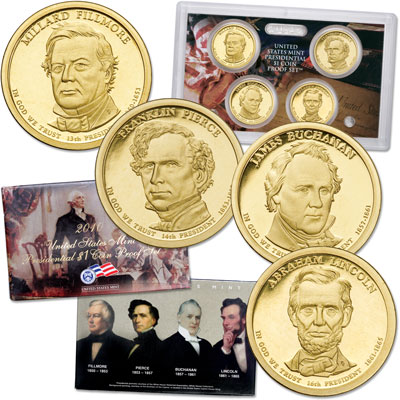 Image for 2010-S U.S. Mint Presidential Dollar Proof Set (4 coins) from Littleton Coin Company
