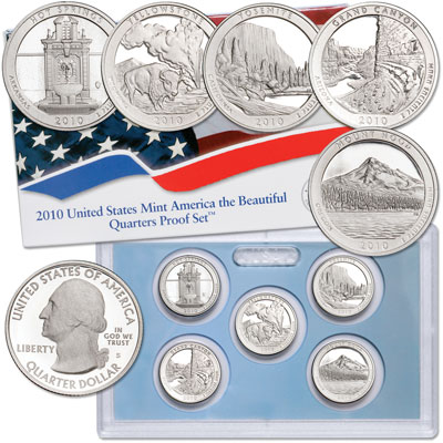 Image for 2010-S America's National Park Quarters Clad Proof Set from Littleton Coin Company
