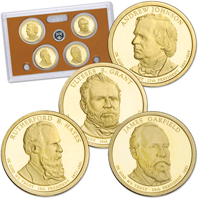 Image for 2011-S U.S. Mint Presidential Dollar Proof Set (4 coins) from Littleton Coin Company