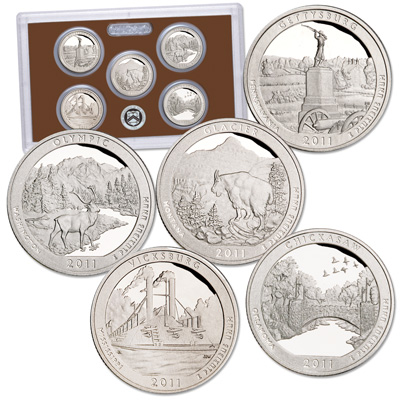 Image for 2011-S America's National Park Quarters Clad Proof Set (5 coins) from Littleton Coin Company