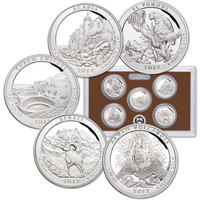 Image for 2012-S America's National Park Quarters Clad Proof Set from Littleton Coin Company