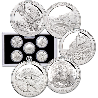 Image for 2012-S America's National Park Quarters 90% Silver Proof Set (5 coins) from Littleton Coin Company