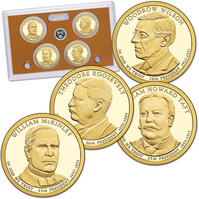 Image for 2013-S U.S. Mint Presidential Dollar Proof Set (4 coins) from Littleton Coin Company