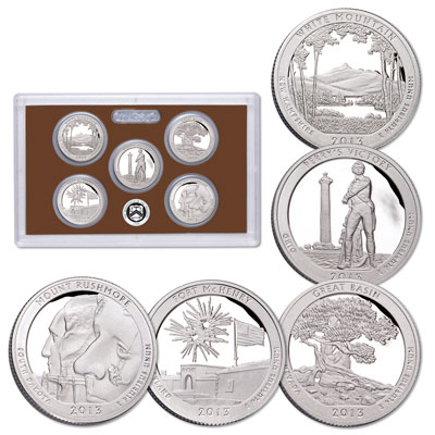 Image for 2013-S America's National Park Quarters Clad Proof Set from Littleton Coin Company