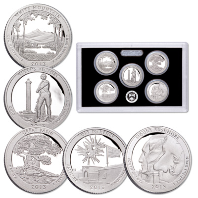 Image for 2013-S America's National Park Quarters 90% Silver Proof Set from Littleton Coin Company