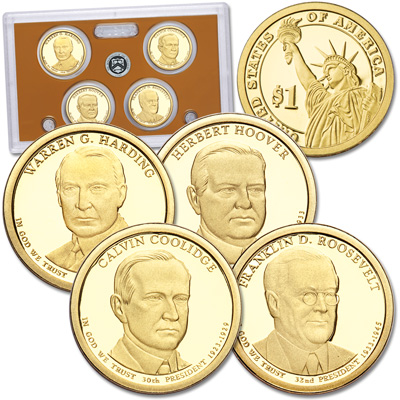 Image for 2014-S U.S. Mint Presidential Dollar Proof Set (4 coins) from Littleton Coin Company