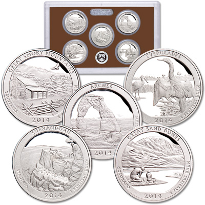 Image for 2014-S America's National Park Quarters Clad Proof Set from Littleton Coin Company