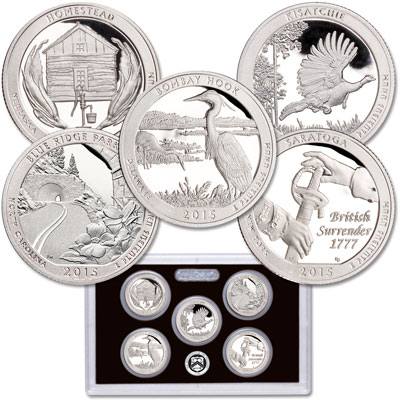 Image for 2015-S America's National Park Quarters Silver Proof Set from Littleton Coin Company