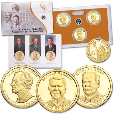 Image for 2016-S U.S. Mint Presidential Dollar Proof Set from Littleton Coin Company