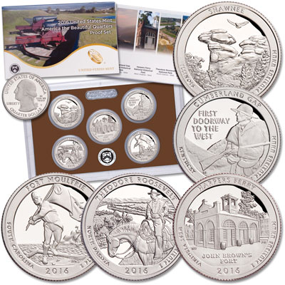 Image for 2016-S America's National Park Quarters Clad Proof Set from Littleton Coin Company