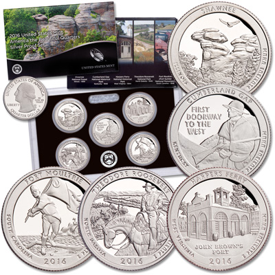 Image for 2016-S America's National Park Quarters 90% Silver Proof Set from Littleton Coin Company