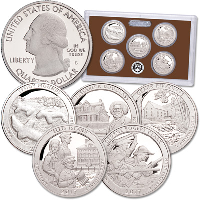 Image for 2017-S America's National Park Quarters Clad Proof Set from Littleton Coin Company