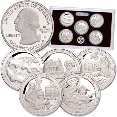 Image for 2017-S America's National Park Quarters 90% Silver Proof Set from Littleton Coin Company