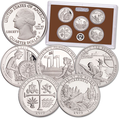 Image for 2019-S America's National Park Quarters Clad Proof Set from Littleton Coin Company