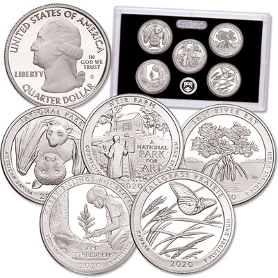 Image for 2020-S America's National Park Quarters Silver Proof Set from Littleton Coin Company