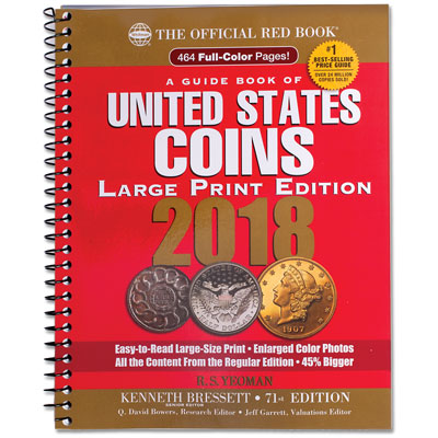 Image for 2018 Guide Book of U.S. Coins (Large Print Softcover) from Littleton Coin Company