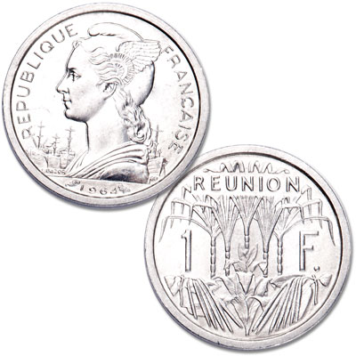 Image for 1948-1973 Reunion Aluminum 1 Franc from Littleton Coin Company