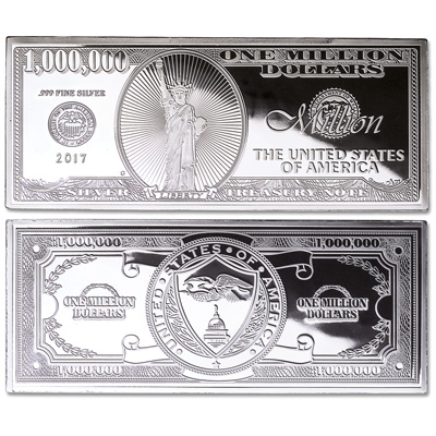 Image for 2017 4 oz. Silver Million Dollar Bill from Littleton Coin Company