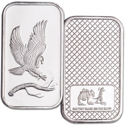 Image for 1 oz. Silver Bald Eagle Bar from Littleton Coin Company
