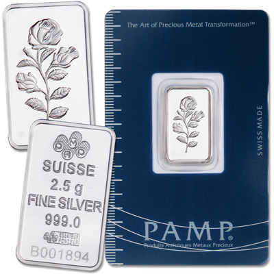 Image for 2.5g Silver Bar - Rose from Littleton Coin Company