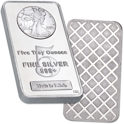 Image for 5 oz. Liberty Walking Silver Bar from Littleton Coin Company