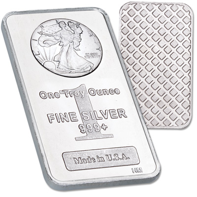 Image for 1 oz. Liberty Walking Silver Bar from Littleton Coin Company